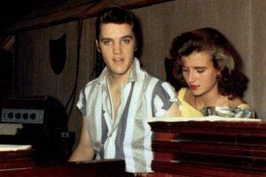 1- Elvis and June Juanico, July 1956