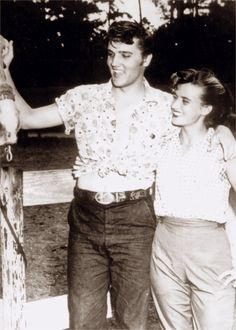 Elvis vacation in july 1956 in Biloxi, here with his girl friend June Juanico