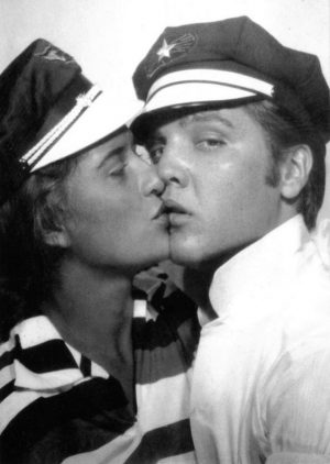 July, 1956. Photo booth photo of June Juanico and boyfriend Elvis Presley 2