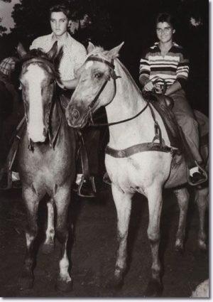 June Juanico & Elvis Presley Gulf Hills Dude Ranch 1956