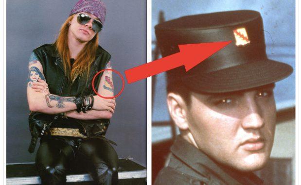 Elvis Presley and Axl Rose Has Same Tattoo? – Elvis Presley